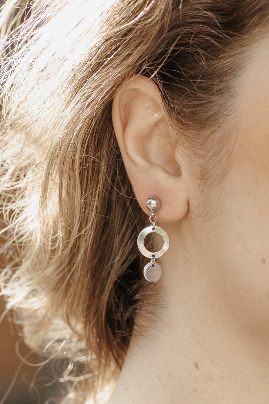 Ασημένια σκουλαρίκια γυναικεία χειροποίητα