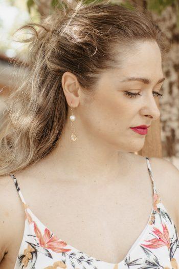 Σκουλαρίκια γυναικεία χρυσά κρεμαστά
